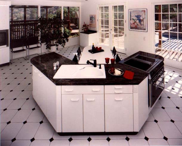 black and white tile kitchen floor. -nice-tiles-flooring-lack